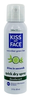 Kiss My Face - Quick Dry Spray Deodorant Cucumber Green Tea - 3 oz.