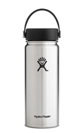 Hydro Flask - Stainless Steel Water Bottle Vacuum Insulated Wide Mouth with Flex Cap Stainless - 18 oz.