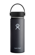 Hydro Flask - Stainless Steel Water Bottle Vacuum Insulated Wide Mouth with Flex Cap Black - 18 oz.