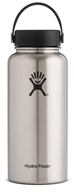 Hydro Flask - Stainless Steel Water Bottle Vacuum Insulated Wide Mouth with Flex Cap Stainless - 32 oz.