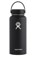 Hydro Flask - Stainless Steel Water Bottle Vacuum Insulated Wide Mouth with Flex Cap Black - 32 oz.