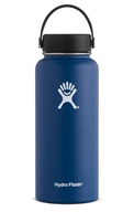Hydro Flask - Stainless Steel Water Bottle Vacuum Insulated Wide Mouth with Flex Cap Cobalt - 32 oz.