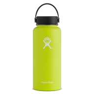 Hydro Flask - Stainless Steel Water Bottle Vacuum Insulated Wide Mouth with Flex Cap Citron - 32 oz.