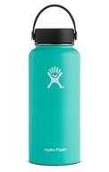 Hydro Flask - Stainless Steel Water Bottle Vacuum Insulated Wide Mouth with Flex Cap Mint - 32 oz.