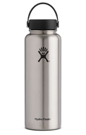 Hydro Flask - Stainless Steel Water Bottle Vacuum Insulated Wide Mouth with Flex Cap Stainless - 40 oz.