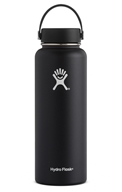 Hydro Flask - Stainless Steel Water Bottle Vacuum Insulated Wide Mouth with Flex Cap Black - 40 oz.