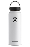 Hydro Flask - Stainless Steel Water Bottle Vacuum Insulated Wide Mouth with Flex Cap White - 40 oz.