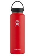 Hydro Flask - Stainless Steel Water Bottle Vacuum Insulated Wide Mouth with Flex Cap Lava - 40 oz.