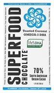 Good Superfoods - Superfood Chocolate Bar Toasted Coconut Omega-3 - 1.75 oz.