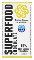 Good Superfoods - Superfood Chocolate Bar Lemon Ginger Immunity - 1.75 oz.
