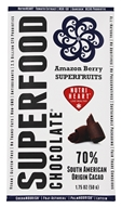 Good Superfoods - Superfood Chocolate Bar Amazon Berry Superfruits - 1.75 oz.