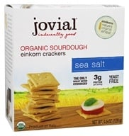 Jovial Foods - Organic Sourdough Einkorn Crackers Sea Salt - 4.5 oz.