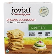 Jovial Foods - Organic Sourdough Einkorn Crackers Rosemary - 4.5 oz.
