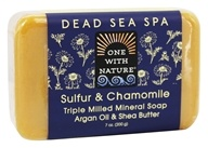 One With Nature - Sulfur & Chamomile Triple Milled Mineral Soap - 7 oz.