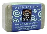 One With Nature - French Green Clay Triple Milled Mineral Bar Soap Argan Oil & Shea Butter - 7 oz.