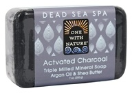 One With Nature - Activated Charcoal Triple Milled Mineral Soap Argan Oil & Shea Butter - 7 oz.