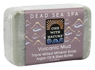 One With Nature - Volcanic Mud Triple Milled Mineral Bar Soap Argan Oil & Shea Butter - 7 oz.