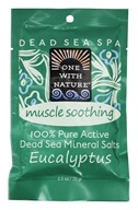 One With Nature - 100% Pure Active Dead Sea Minerals Salts Muscle Soothing Eucalyptus - 2.5 oz.