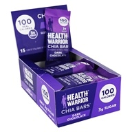 Health Warrior - Superfood Chia Bars Box Dark Chocolate - 15 Bars