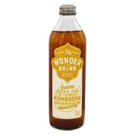 Kombucha Wonder Drink - Organic Sparkling Fermented Tea Essence of Lemon - 14 oz.