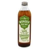 Kombucha Wonder Drink - Organic Sparkling Fermented Tea Bottle with Prebiotics Asian Pear & Ginger - 14 fl. oz.