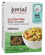 Jovial Foods - Gluten Free Brown Rice Farfalle Pasta - 12 oz.