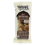 GoMacro - Organic Thrive Bar Chocolate, Nuts & Sea Salt - 1.4 oz.