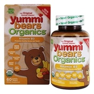Hero Nutritionals Products - Yummi Bears Organics Vitamin D3 Fruit Flavors 600 IU - 60 Gummies