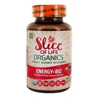 Hero Nutritionals Products - Slice of Life Organics Energy + B12 Berry Flavors - 60 Gummies