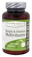 FoodScience of Vermont - Weight & Diabetic Multivitamin - 90 Caplets