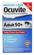 Bausch & Lomb - Ocuvite Adult 50+ Eye Vitamin & Mineral Supplement - 90 Softgels
