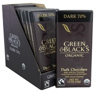 Green & Black's Organic - Chocolate Bars Box Dark Chocolate 70% Cacao - 10 Bars