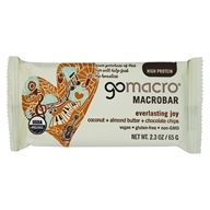GoMacro - Organic MacroBar Everlasting Joy Coconut + Almond Butter + Chocolate Chips - 2.3 oz.