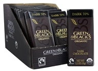 Green & Black's Organic - Chocolate Bars Box 70% Cacao Dark Chocolate  - 20 Bars