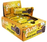 PureBar - Pure Organic Ancient Grains Crispy Bars Box Chocolate Chunk Nut - 12 Bars