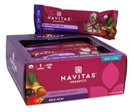 Navitas Naturals - Organic Superfood+ Bars Goji Acai - 12 Bars