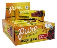 PureBar - Pure Organic Ancient Grains Crispy Bars Box Triple Berry Nut - 12 Bars