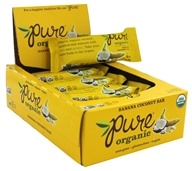 PureBar - Pure Organic Fruit & Nut Bars Box Banana Coconut - 12 Bars