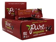PureBar - Pure Organic Fruit & Nut Bars Box Cherry Cashew - 12 Bars