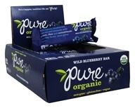PureBar - Pure Organic Fruit & Nut Bars Box Wild Blueberry - 12 Bars