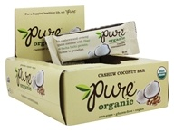 PureBar - Pure Organic Fruit & Nut Bars Box Cashew Coconut - 12 Bars