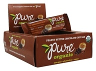 PureBar - Pure Organic Fruit & Nut Bars Box Peanut Butter Chocolate Chip - 12 Bars
