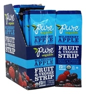 PureBar - Pure Organic Fruit & Veggie Strips Box Wildberry Apple - 24 Strip(s)