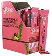 PureBar - Pure Organic Fruit Sandwiches Box Pineapple & Passion Fruit - 20 Bars