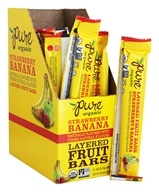 PureBar - Pure Organic Fruit Sandwiches Box Strawberry & Banana - 20 Bars