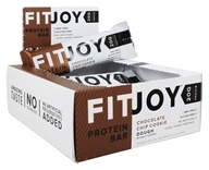 FitJoy Nutrition - Protein Bar Chocolate Chip Cookie Dough - 12 Bars
