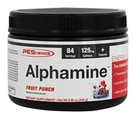 PEScience - Alphamine Energy Powder Fruit Punch - 8.59 oz.