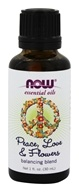 NOW Foods - Essential Oil Balancing Blend Peace, Love & Flowers - 1 oz.
