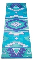Yoga Design Lab - Combo Yoga Mat Tribal Blue - 70 in.