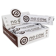 Protein Bars Box Chocolate Fudge Brownie - 12 Bars by No Cow